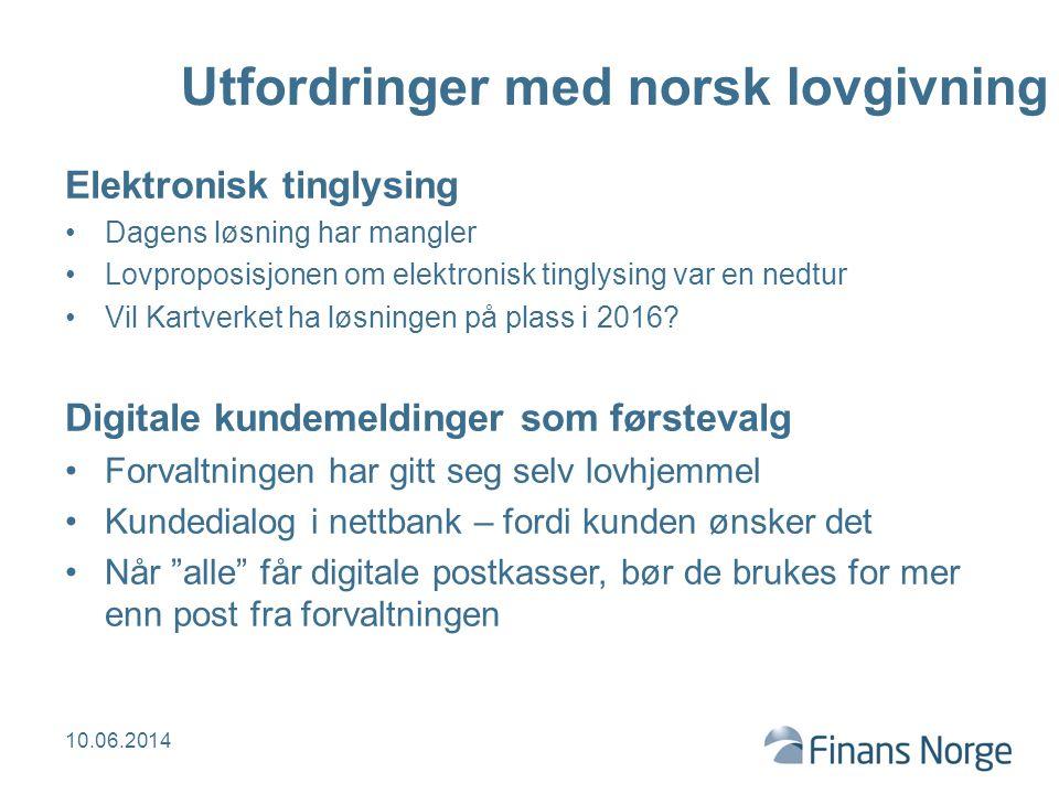 Utfordringer med norsk lovgivning