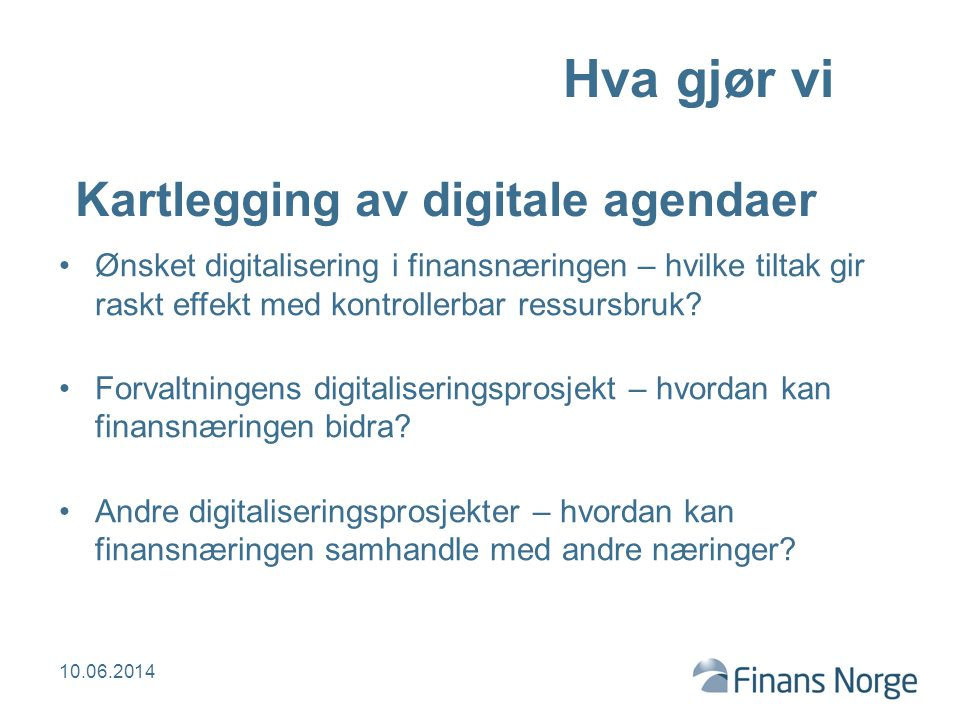 Kartlegging av digitale agendaer