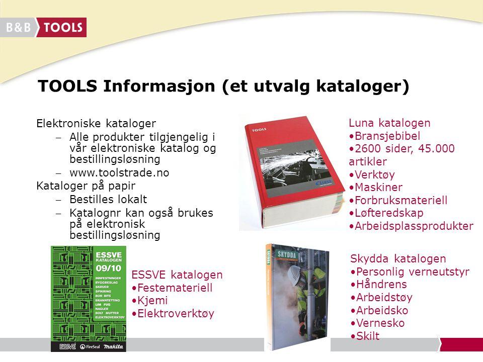 TOOLS Informasjon (et utvalg kataloger)