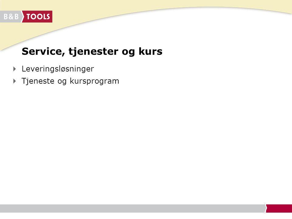 Service, tjenester og kurs