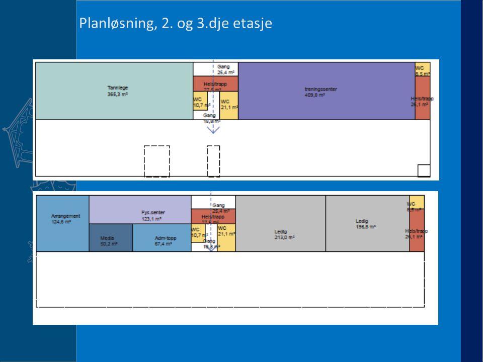 Planløsning, 2. og 3.dje etasje