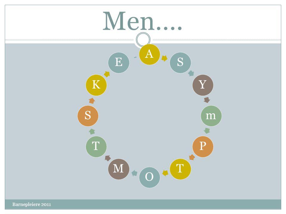 Men…. A S Y m P T O M K E Barnepleiere 2011