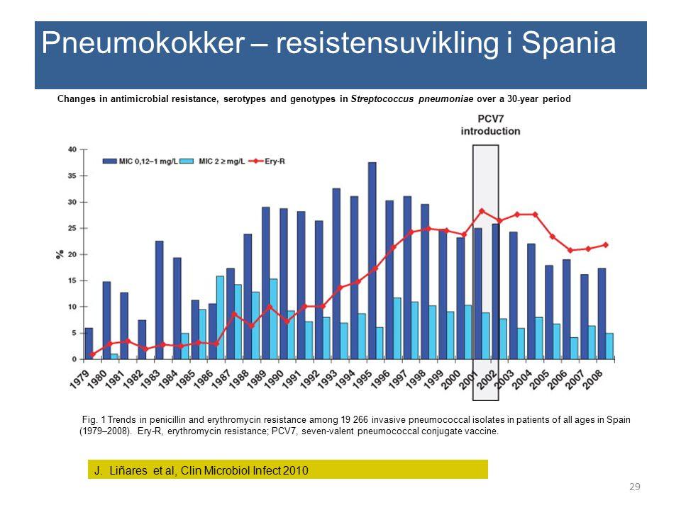 Pneumokokker – resistensuvikling i Spania