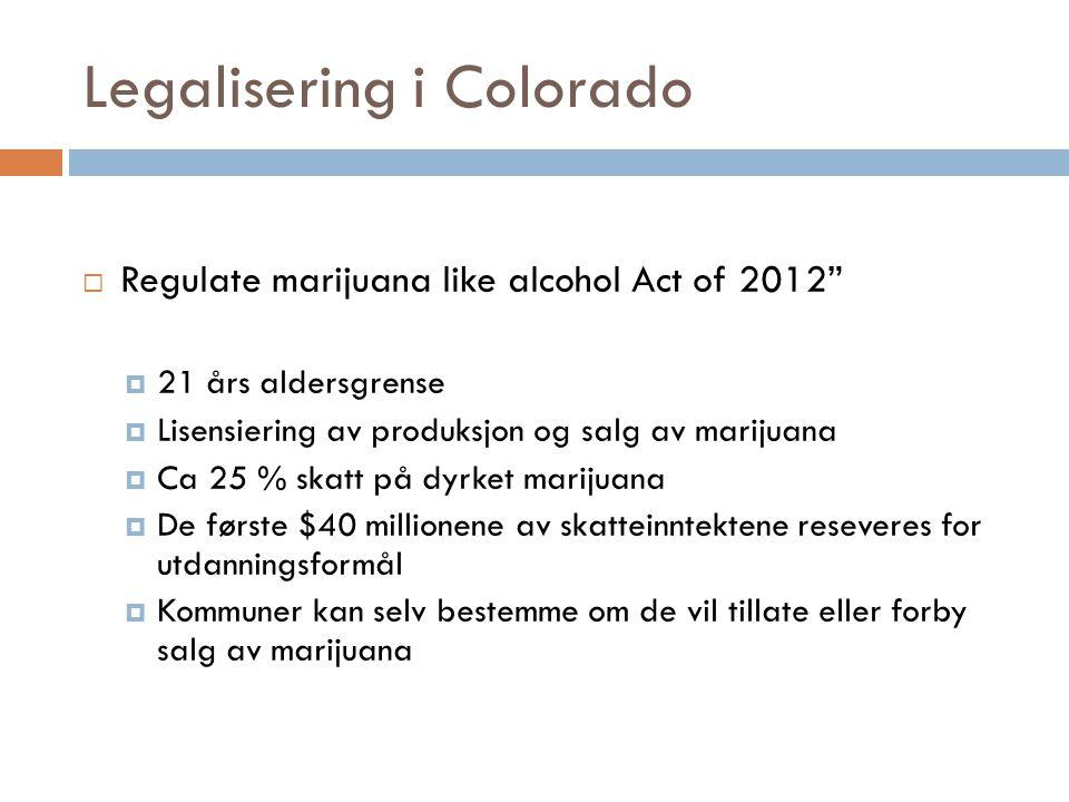 Legalisering i Colorado