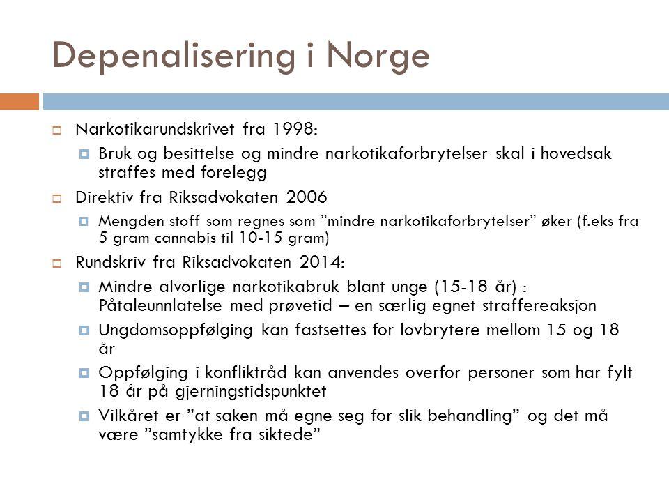 Depenalisering i Norge