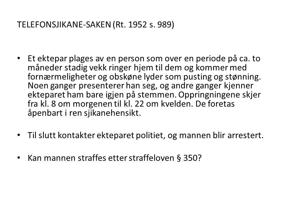 TELEFONSJIKANE-SAKEN (Rt. 1952 s. 989)