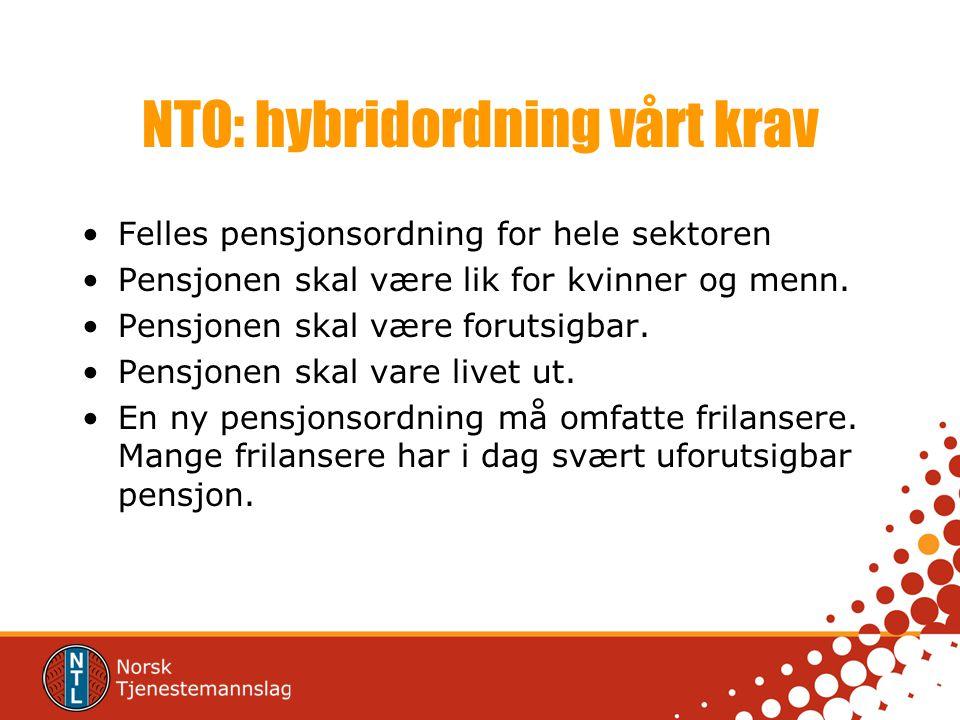NTO: hybridordning vårt krav