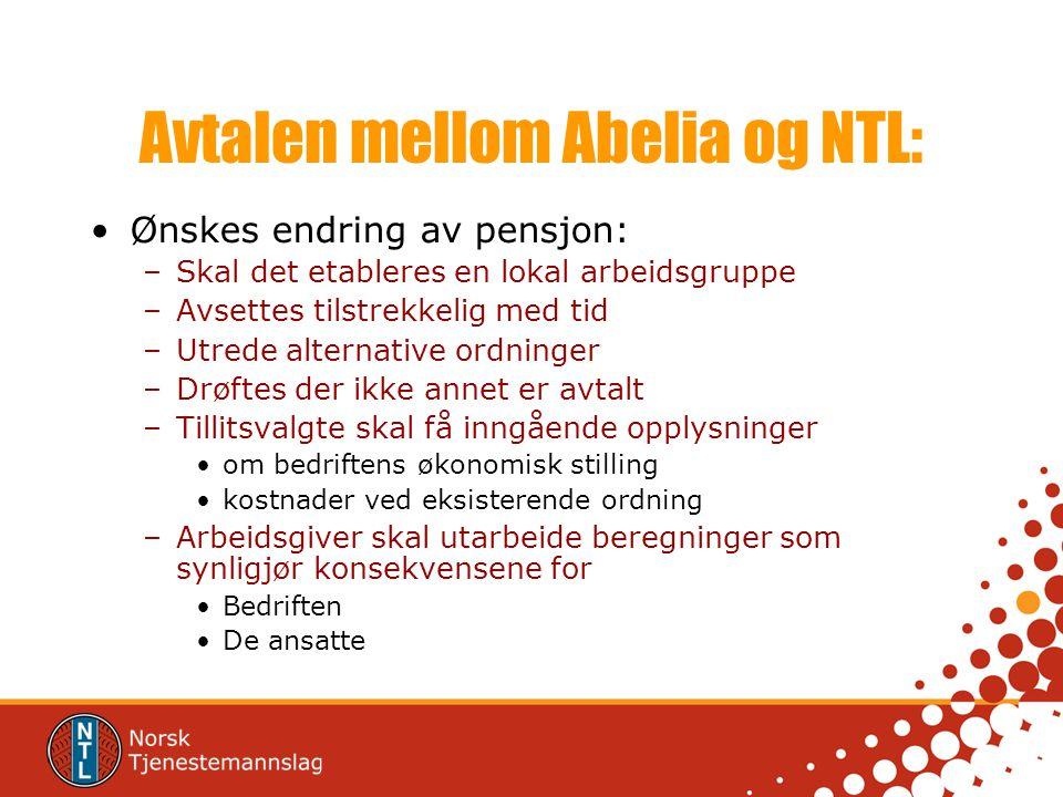 Avtalen mellom Abelia og NTL: