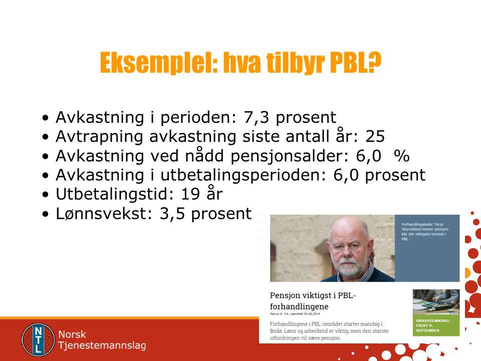 Eksemplel: hva tilbyr PBL