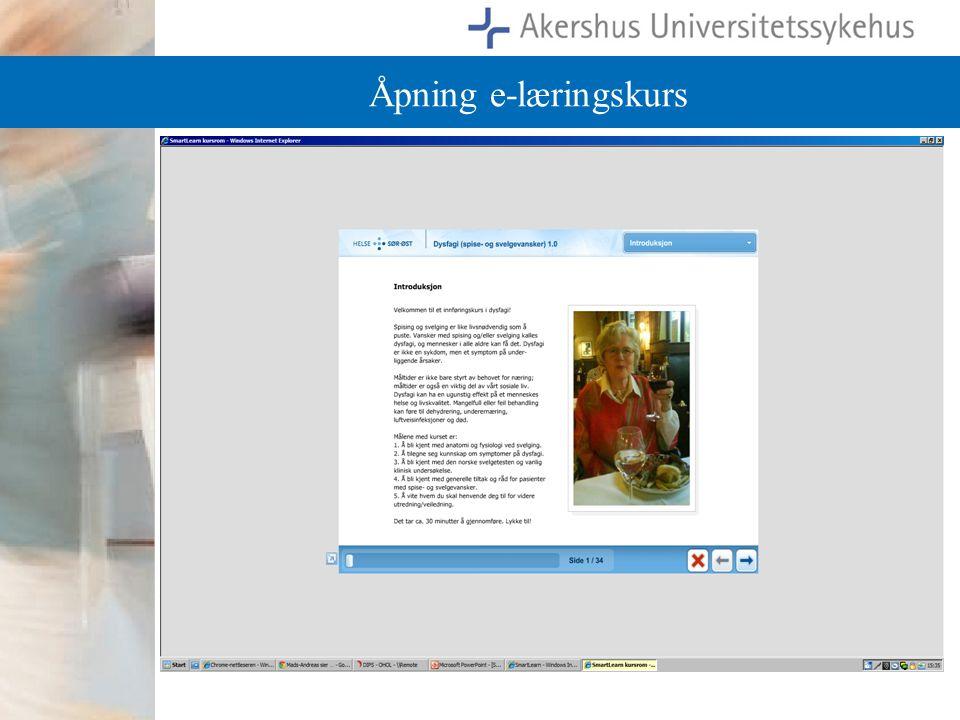 Åpning e-læringskurs