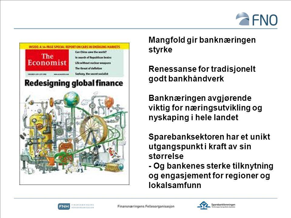 Mangfold gir banknæringen styrke