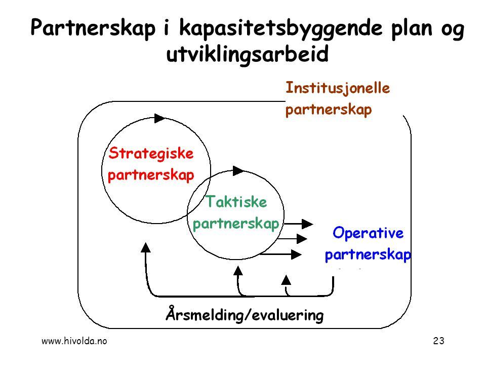 Partnerskap i kapasitetsbyggende plan og utviklingsarbeid