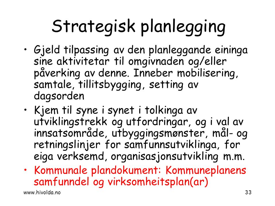 Strategisk planlegging