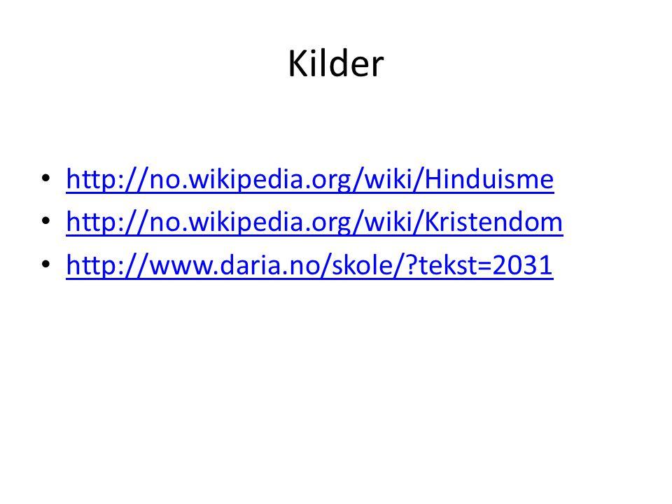 Kilder http://no.wikipedia.org/wiki/Hinduisme