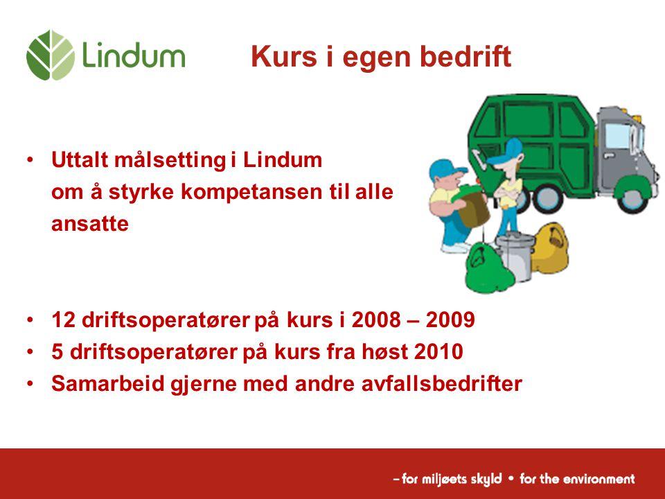 Kurs i egen bedrift Uttalt målsetting i Lindum