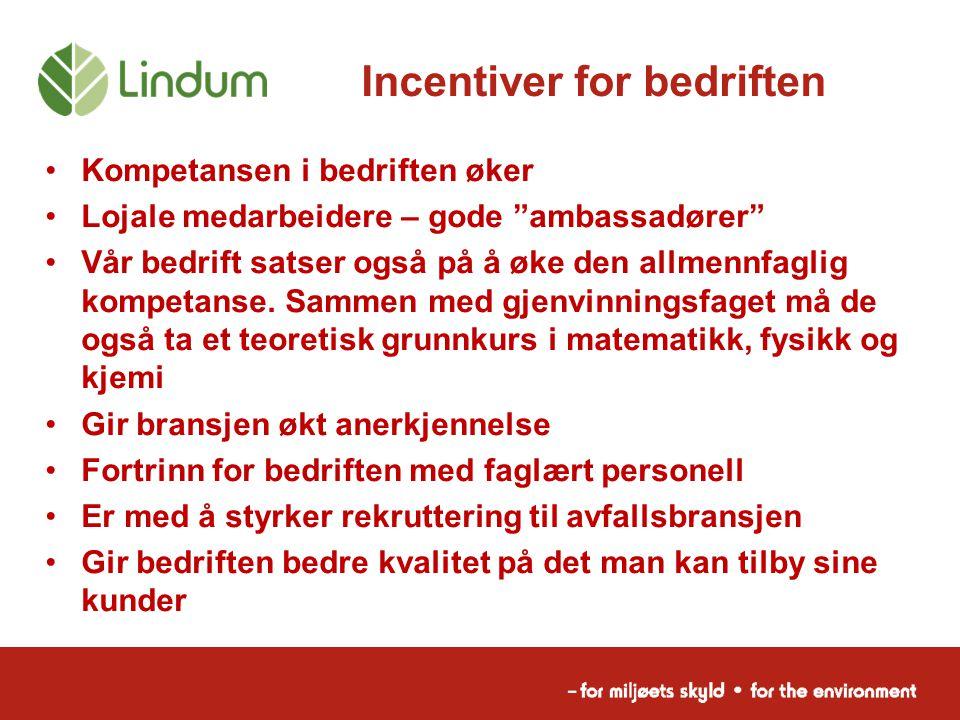 Incentiver for bedriften