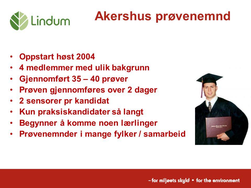 Akershus prøvenemnd Oppstart høst 2004 4 medlemmer med ulik bakgrunn