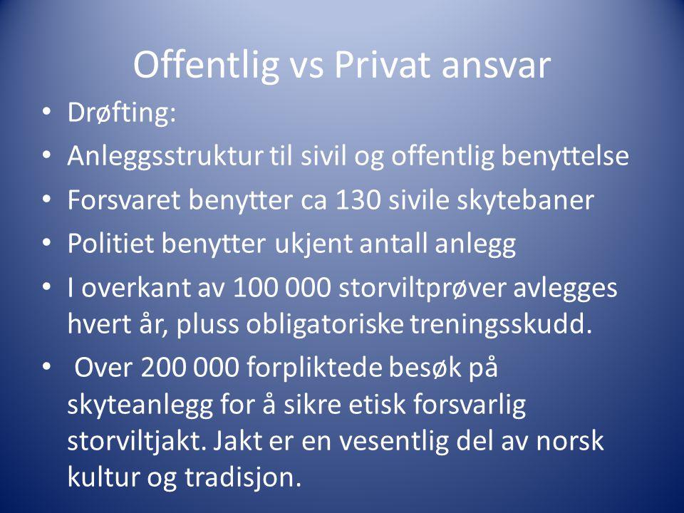 Offentlig vs Privat ansvar