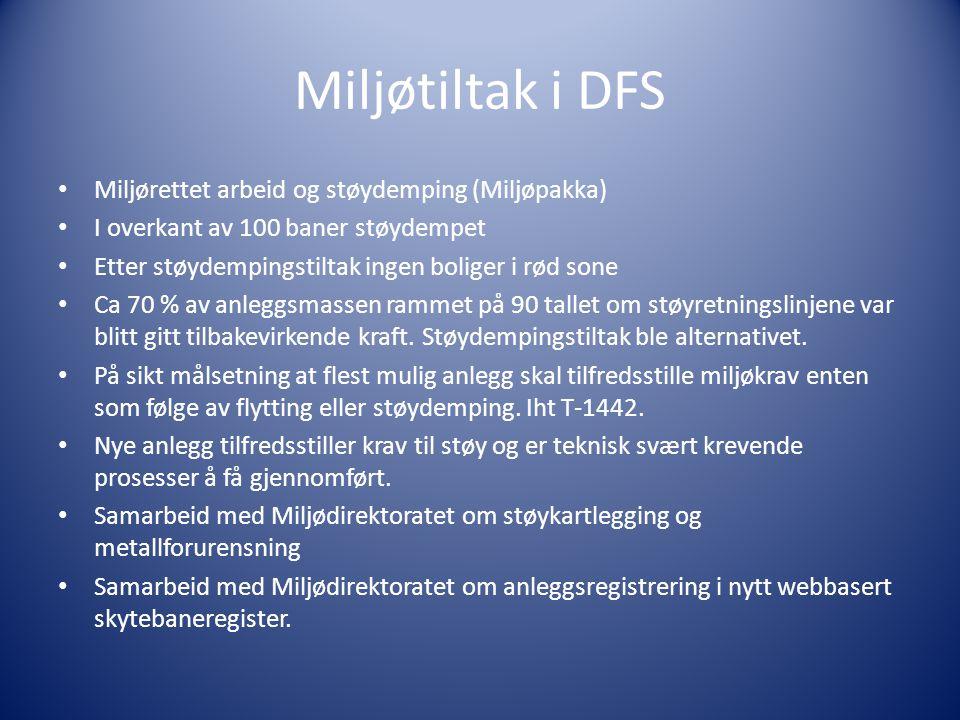 Miljøtiltak i DFS Miljørettet arbeid og støydemping (Miljøpakka)