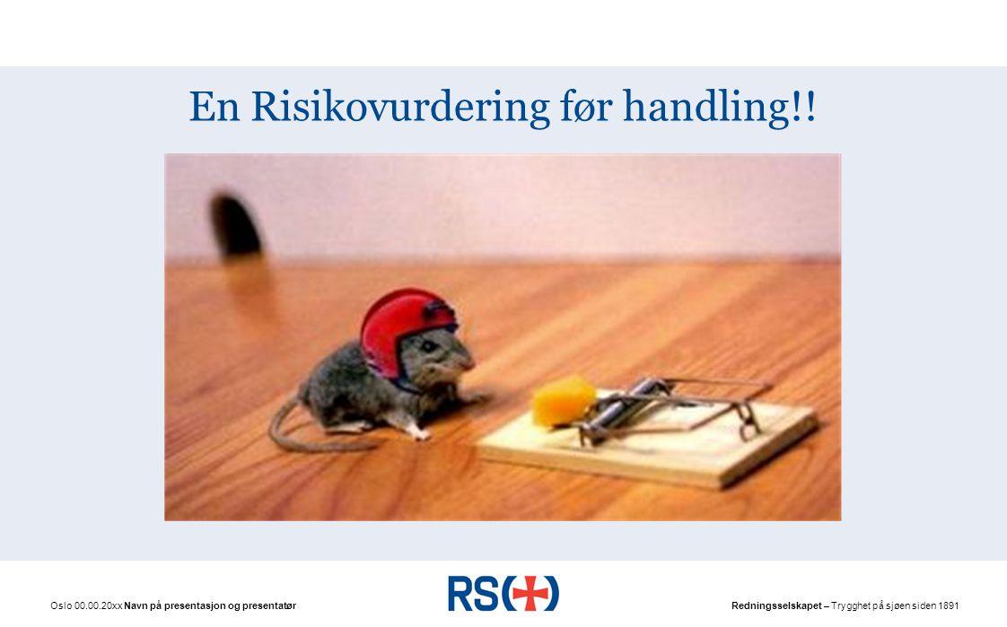 En Risikovurdering før handling!!