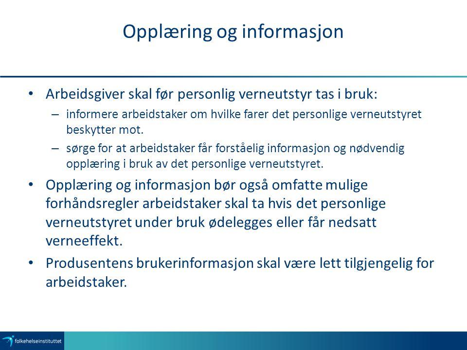 Opplæring og informasjon