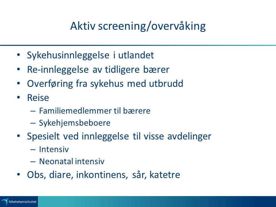 Aktiv screening/overvåking