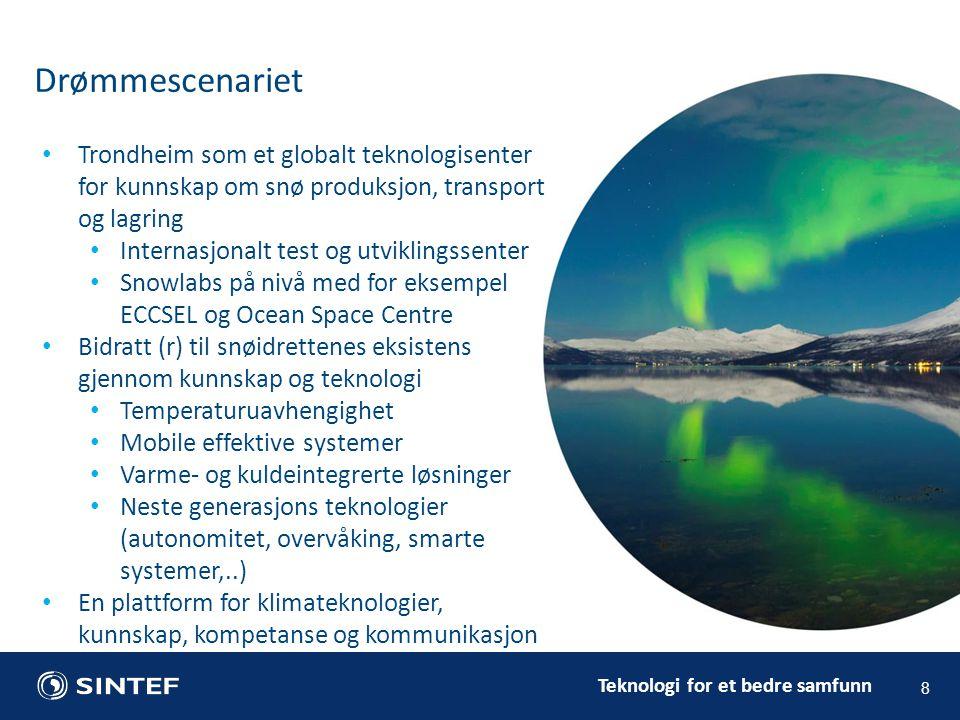 Drømmescenariet Trondheim som et globalt teknologisenter for kunnskap om snø produksjon, transport og lagring.