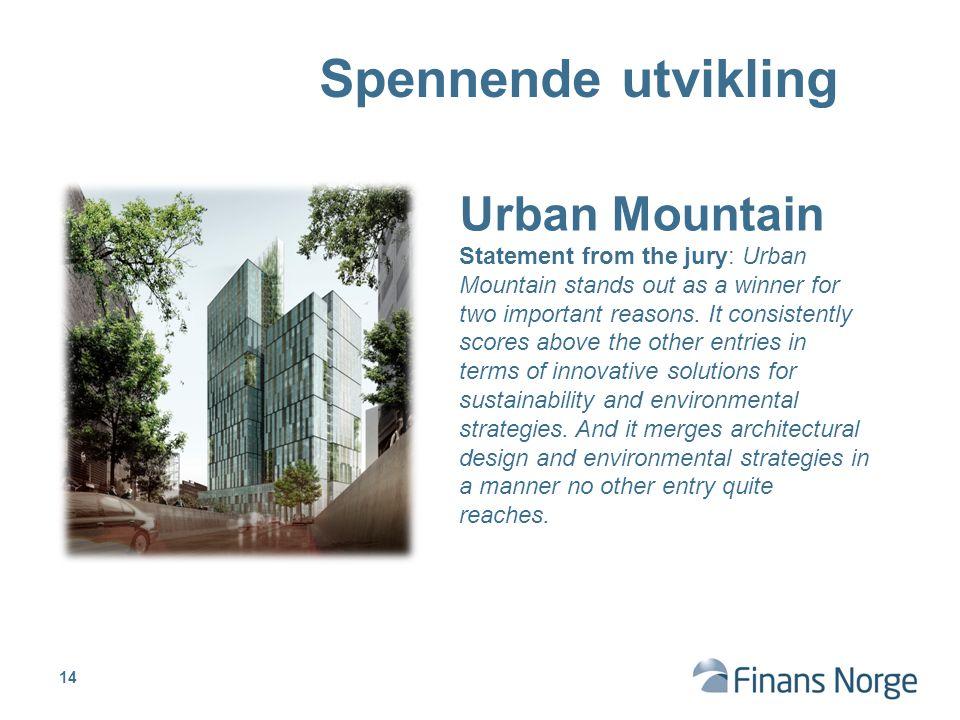 Spennende utvikling Urban Mountain