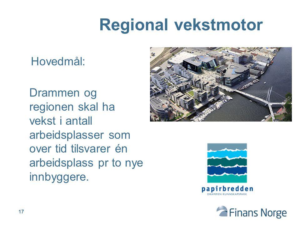 Regional vekstmotor Hovedmål:
