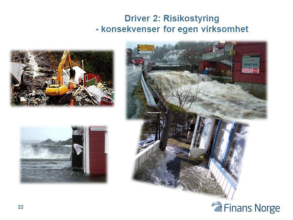 Driver 2: Risikostyring - konsekvenser for egen virksomhet