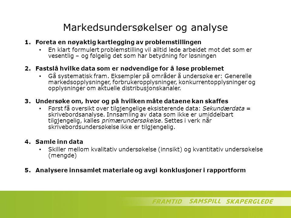 Markedsundersøkelser og analyse