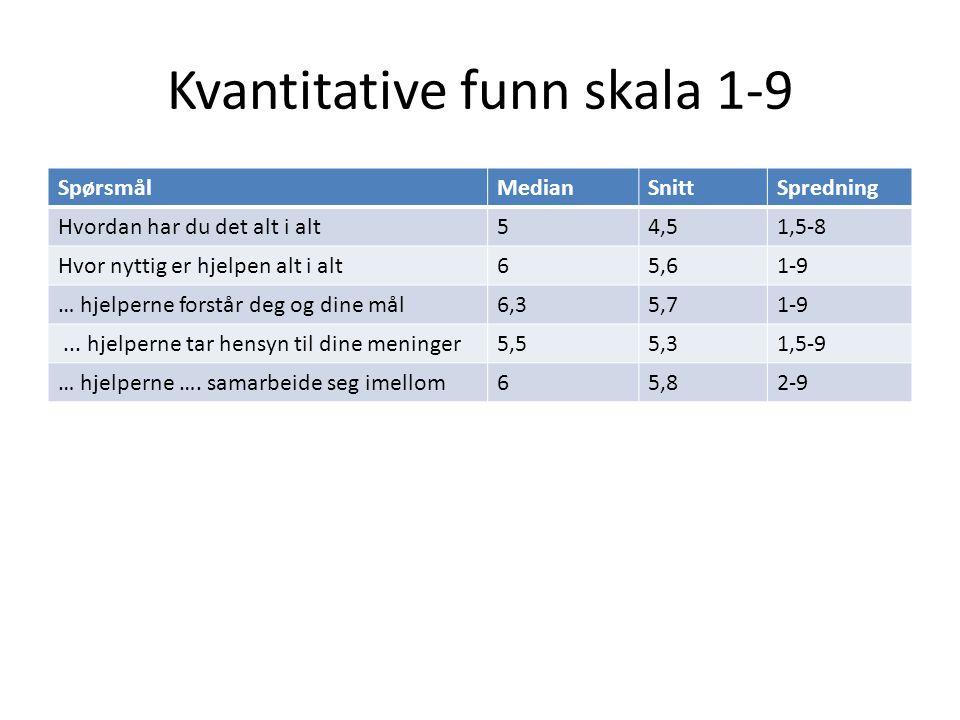 Kvantitative funn skala 1-9