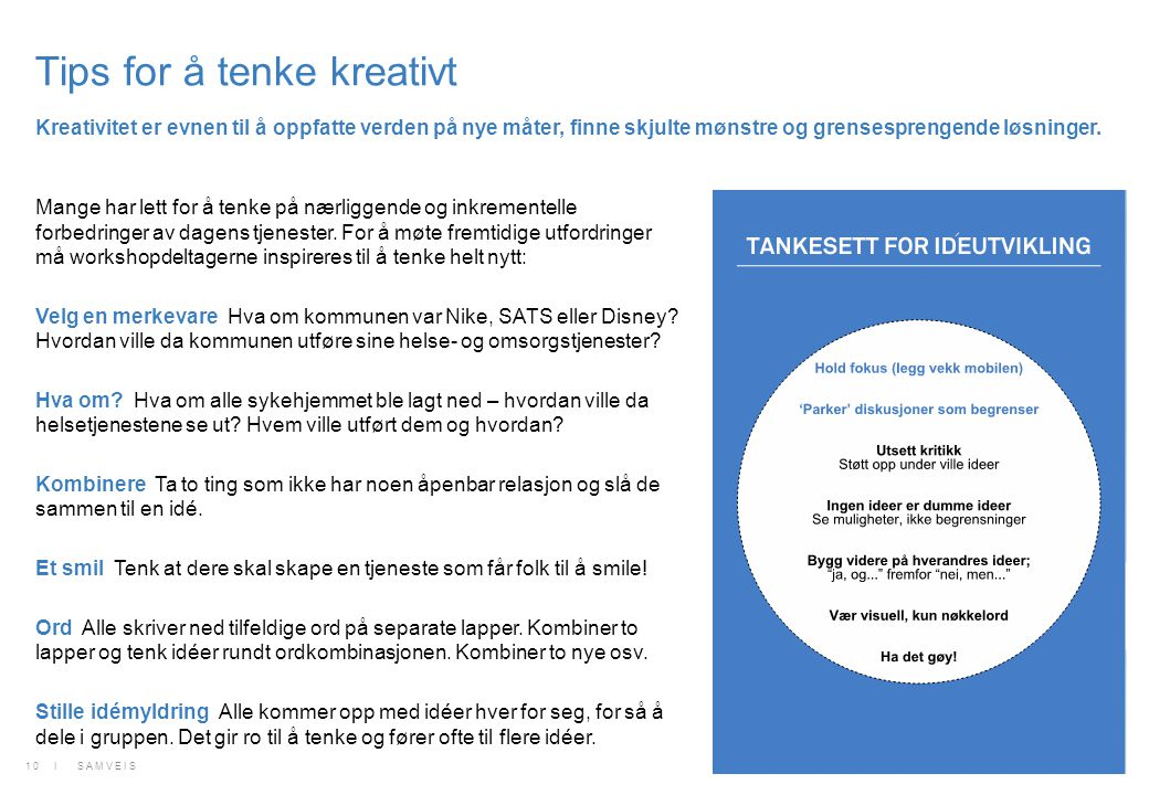 Tips for å tenke kreativt