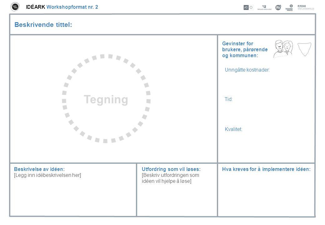 Tegning Beskrivende tittel: IDÉARK Workshopformat nr. 2