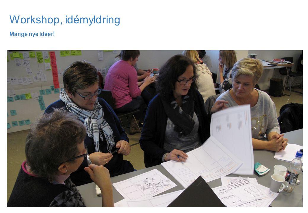 Workshop, idémyldring Mange nye idéer!