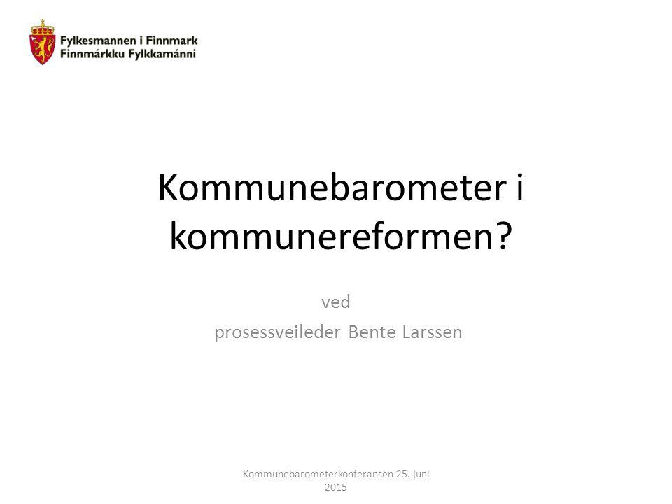 Kommunebarometer i kommunereformen