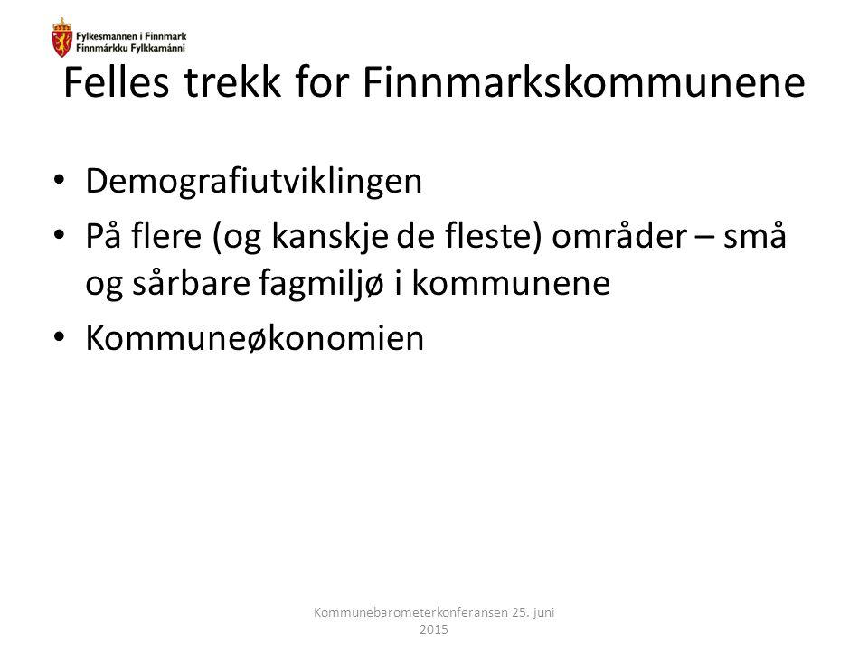 Felles trekk for Finnmarkskommunene
