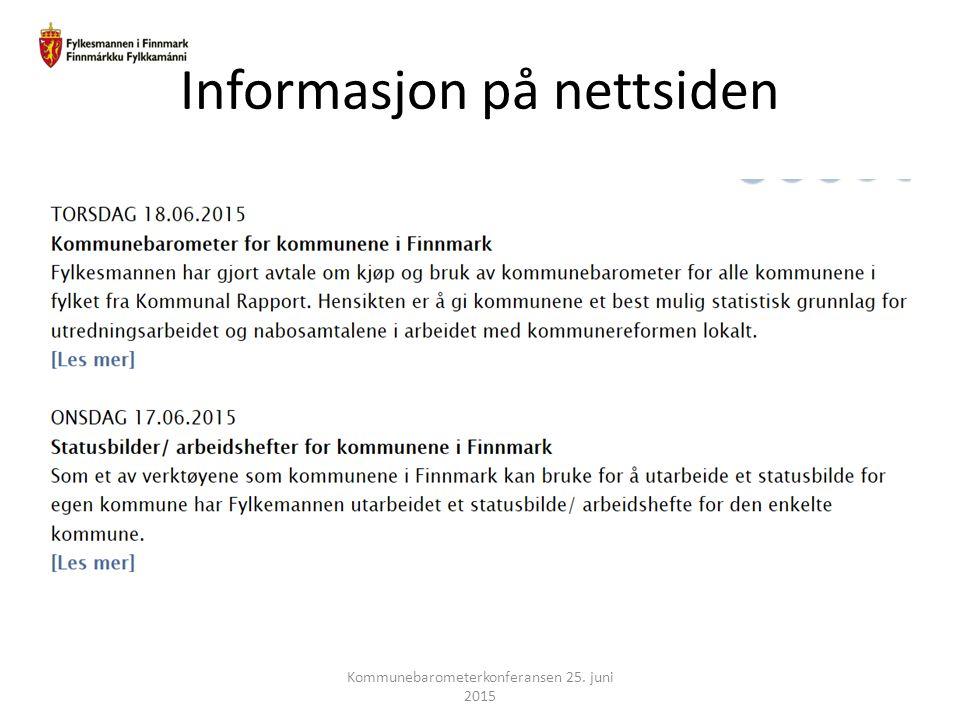 Informasjon på nettsiden