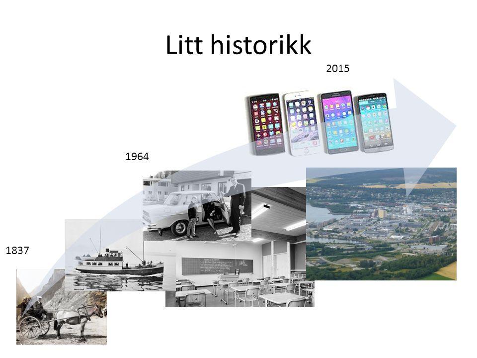Litt historikk 2015. 1964. 1837.