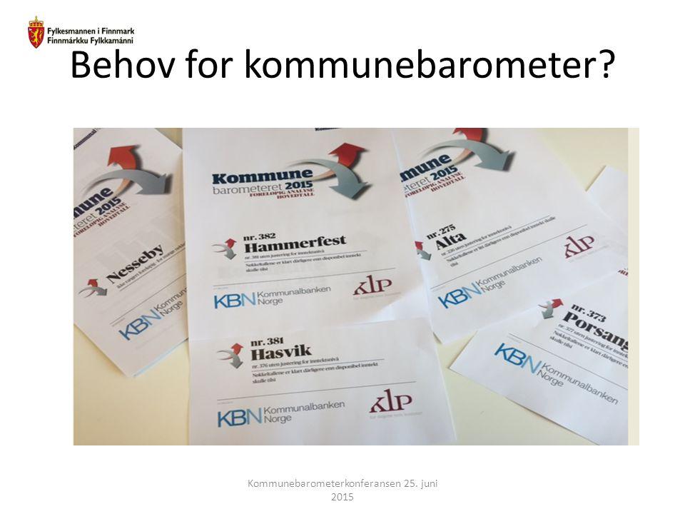 Behov for kommunebarometer