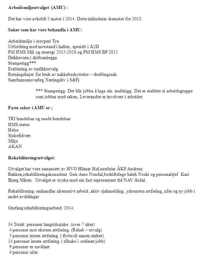 Arbeidsmiljøutvalget (AMU) :