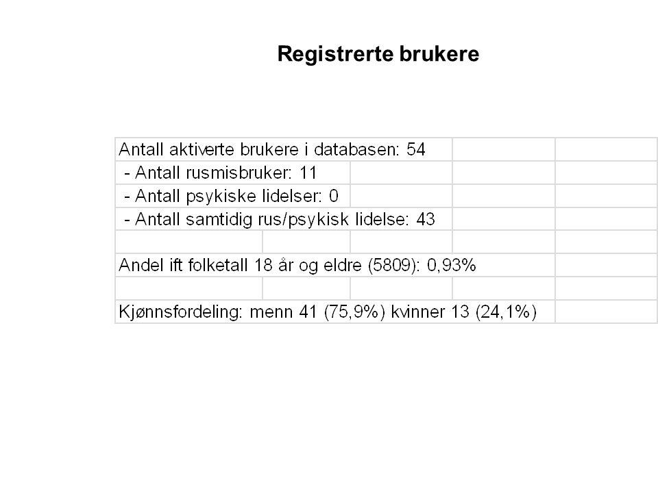 Registrerte brukere Registrerte