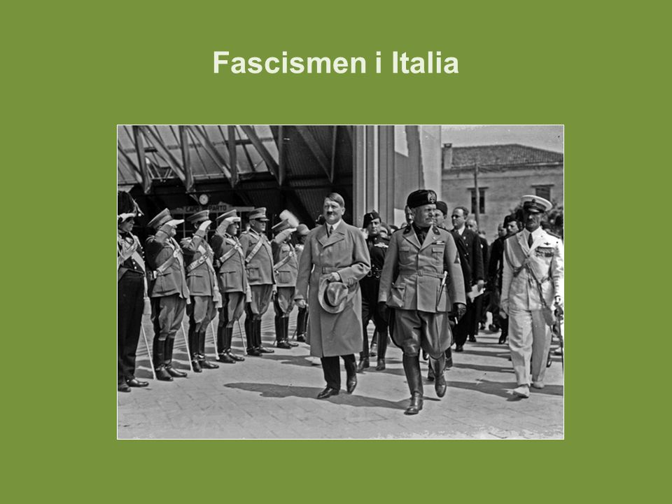 Fascismen i Italia Bilde: Hitler og Mussolini i Venezia i 1934.