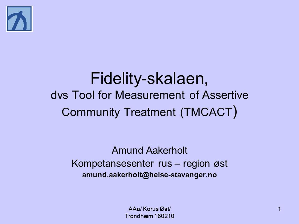 Fidelity-skalaen, dvs Tool for Measurement of Assertive Community Treatment (TMCACT)