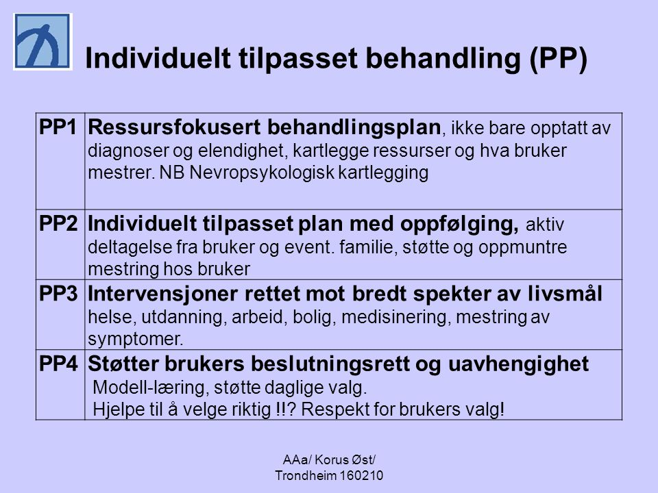 Individuelt tilpasset behandling (PP)