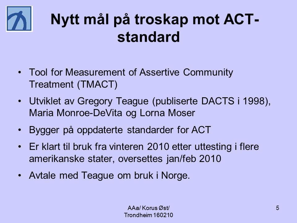 Nytt mål på troskap mot ACT-standard
