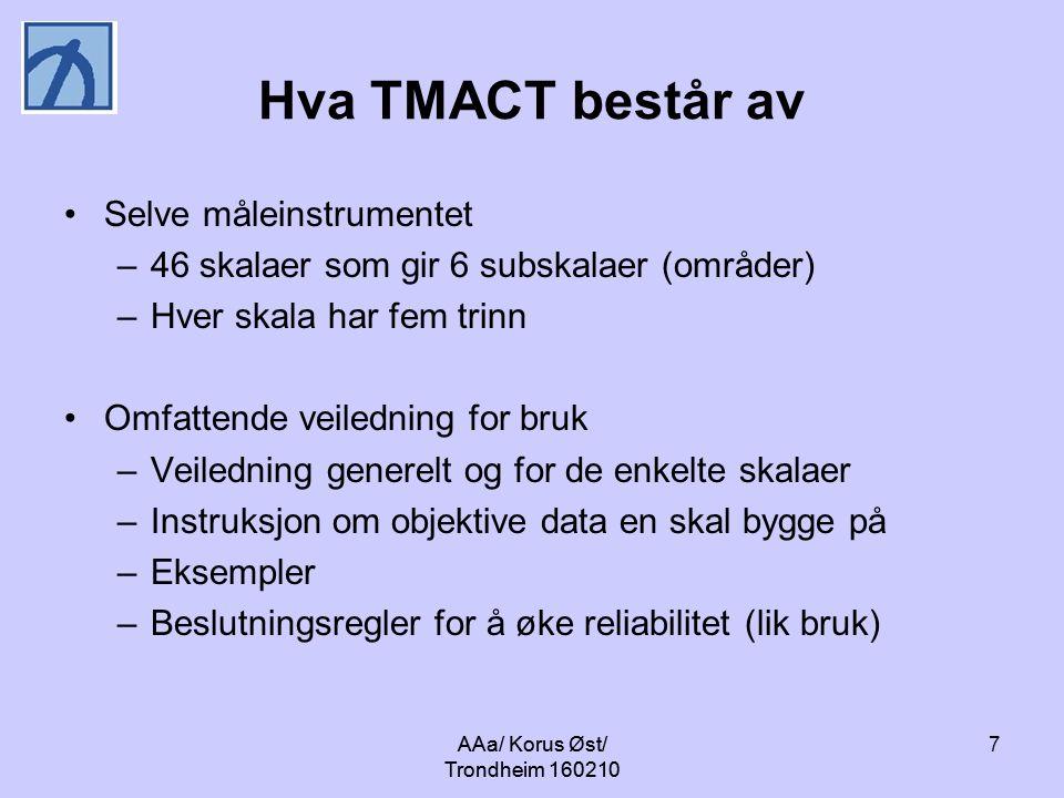 Hva TMACT består av Selve måleinstrumentet