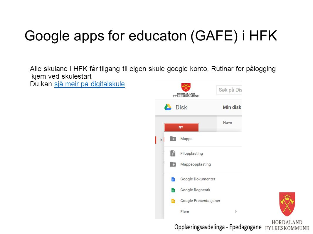 Google apps for educaton (GAFE) i HFK