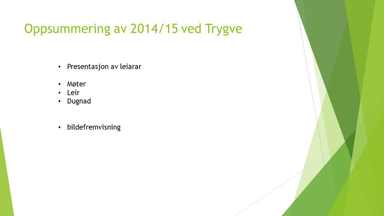 Oppsummering av 2014/15 ved Trygve