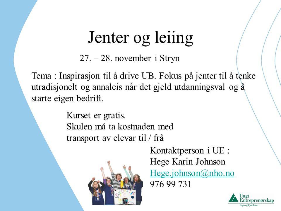 Jenter og leiing 27. – 28. november i Stryn